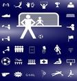 soccer icon3 vector image