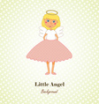 Little Angel Greeting Card vector image vector image
