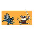 kitten ninjas vector image vector image