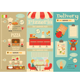 pizzeria posters vector image vector image