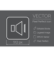 Speaker Pixel Perfect Icon vector image vector image