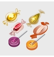 Different sweet candy lollipops vector image