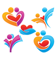 family and love symbols vector image vector image