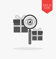Finding gift icon Flat design gray color symbol vector image