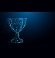 abstract trophy cup form lines and triangles vector image