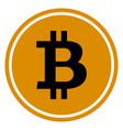 flat bitcoins icon vector image