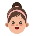 happy little girl icon vector image