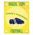 Retro poster Brazil 2014 vector image