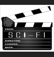science fiction clapperboard vector image
