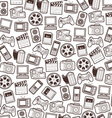 Seamless web icons pattern vector image