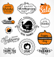 Set of Thanksgiving Calligraphic vector image