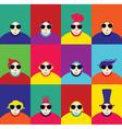 Set of twelve cute characters vector image