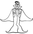 dracula vampire cartoon for coloring book vector image vector image