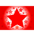 background with red stars vector image