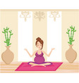 yoga for pregnant woman vector image