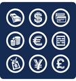 money and finance icons vector image vector image