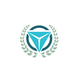 Emblem triangle logo vector image