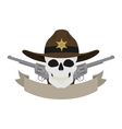 Wild west sheriff emblem vector image