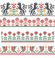 Embroidery border vector image vector image