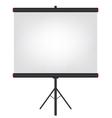 Projector screen black vector image