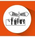 service hotel location vector image