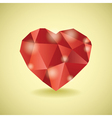 Abstract diamond heart vector image