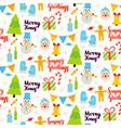 christmas greetings seamless pattern vector image