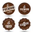 Coffee label 2 vector image