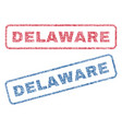 delaware textile stamps vector image