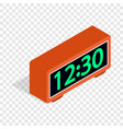digital clock isometric icon vector image