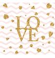 Happy valentines day flyer vector image