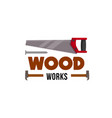 home repair carpentry woodwork tool icon vector image