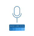 isolated microphone outline mike element vector image