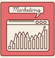 marketing statistics vector image