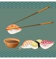Sushi background design vector image