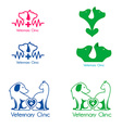 veterinary clinic labels templates vector image