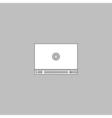 Video player computer symbol vector image