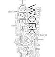 work at home scams text word cloud concept vector image