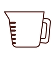 teapot kitchen isolated icon vector image