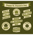 stpatricks day design elements vector image vector image