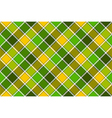 Green yellow spring diagonal check seamless vector image