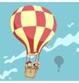 Children in a balloon vector image