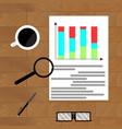 economic graphic report vector image