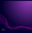 abstract dark purple waves line violet wave vector image