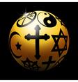 Religious ball vector image