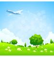 Green Landscap vector image vector image