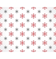 snowflakes on white vector image vector image