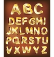 3d gold alphabet for design vector image