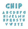 3d tech font digital hi-tech alphabet vector image