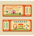 Circus tickets template vector image